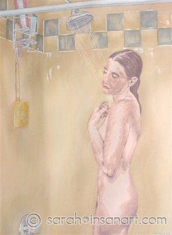 Shower Watercolor
